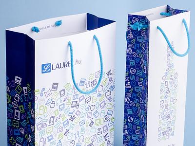 Laurel paper bag designs pattern laurel branding icons paper bag