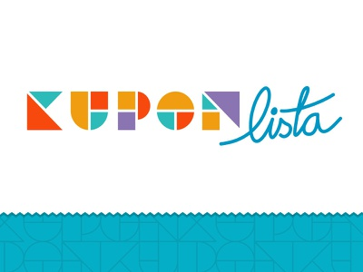 Coupon List logo logo branding mark wordmark logotype typography custom type geometric sale coupon