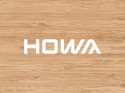 Howa logo carpenter furniture geometric custom type typography logotype wordmark mark branding logo