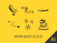 Batman Gadgets Icon Set