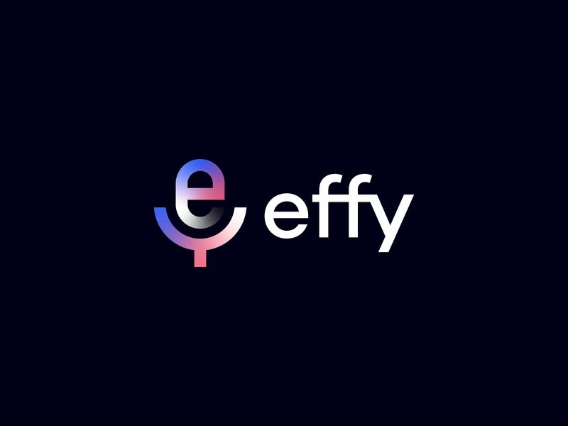 Unused Effy Logo ( E + Microphone Concept ) colour gradient brand creator voice typography vector mark illustration icon design logo identity branding event broadcast radio microphone letter e