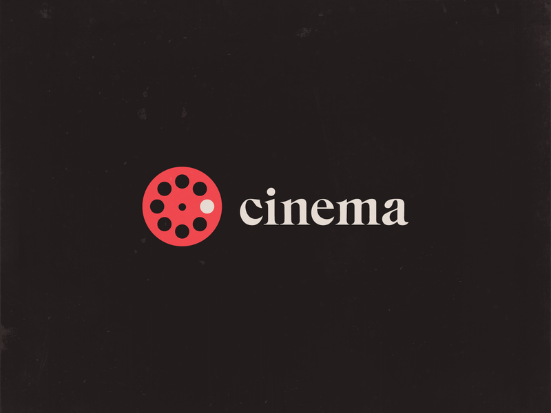 Cinema C + Film Reel Logo 🎞 mark typography vector motion logo design clever concept smart type icon logo design identity branding reel film logo cinema