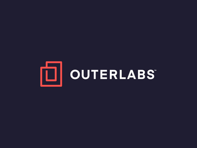 Outerlabs Logo typography vector illustration logo idenity logos icons animation type design geometric abstract building icon brand branding