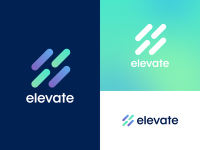 Elevate Brand Refresh identity icon care healthcare pattern ui packaging type wordmark before and after refresh design branding movement lines elevate fitness health