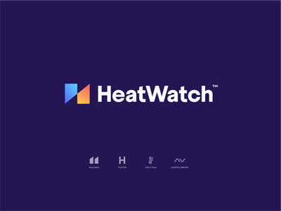 Heatwatch Logo watch identity typography type vector arrows mark icon branding logo letter h energy building temperature control heating heatwatch
