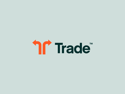 Trade Logo typography design vector t letter arrow arrows mark identity branding shipment logo industrial container shipping b2b trade