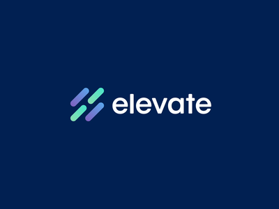 Elevate Logo Animation vector mark 2d elevate type typography health gradient dots lines character motion branding design animation logo