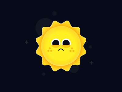 Tooting Stars 🌞💨✨ gif gradient mascot animated solar fart character cute sun space stars design cryptoart fun illustration