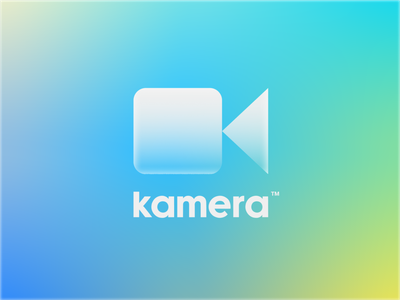 Kamera Logo 🎥 k letter play film camera color retro mesh gradient design identity typography type kamera branding logo