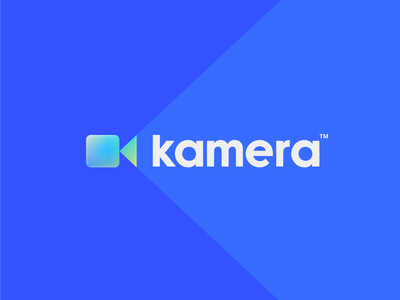Kamera Logo 🎥 k letter play film camera color retro mesh gradient design identity typography type kamera branding logo