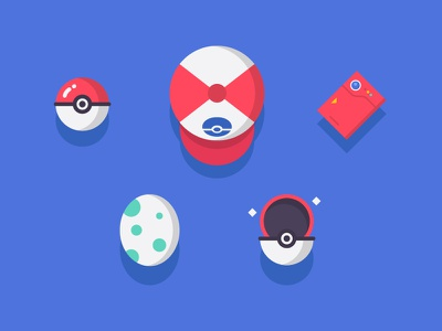 Pokémon Icons egg design fun hat teen kids ball illustration icons pokemon