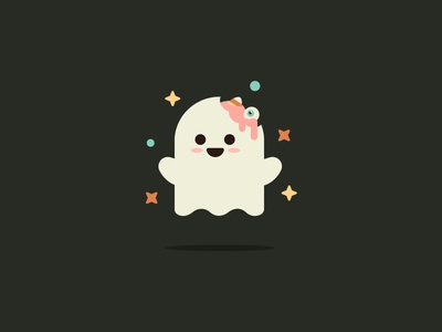 Have a Happy Halloween 👻 eye cute logo logo icon illustration trick or treat sparkle brain character ghost cute halloween