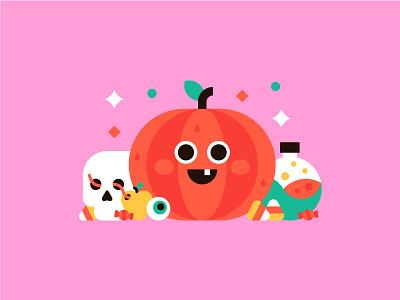 Halloween 🎃💀 disney eyeball potion candy corn skull pumpkin fun halloween autumn october illustration cute
