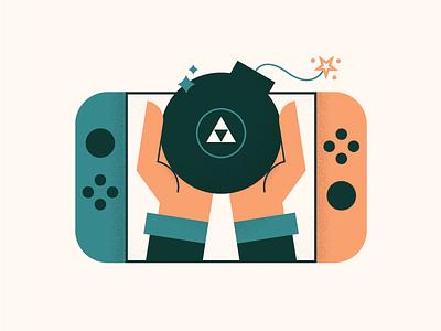 Zelda Switch 💣 nintendo botw cute texture illustration gaming bomb switch nintendo switch zelda