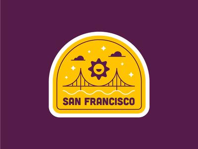 San Francisco Patch 🌞✨ sun illustration fun cute sticker golden gate san francisco snapchat patch