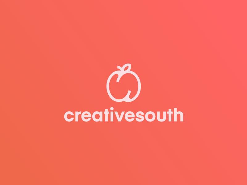 Creative South Rebrand 🍑 cute creative south branding icon mark south creative fruit s peach identity logo