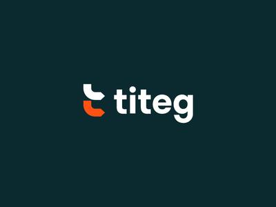 Titeg Branding titeg concept direction icon mark iconic b2b identity branding arrow logo t