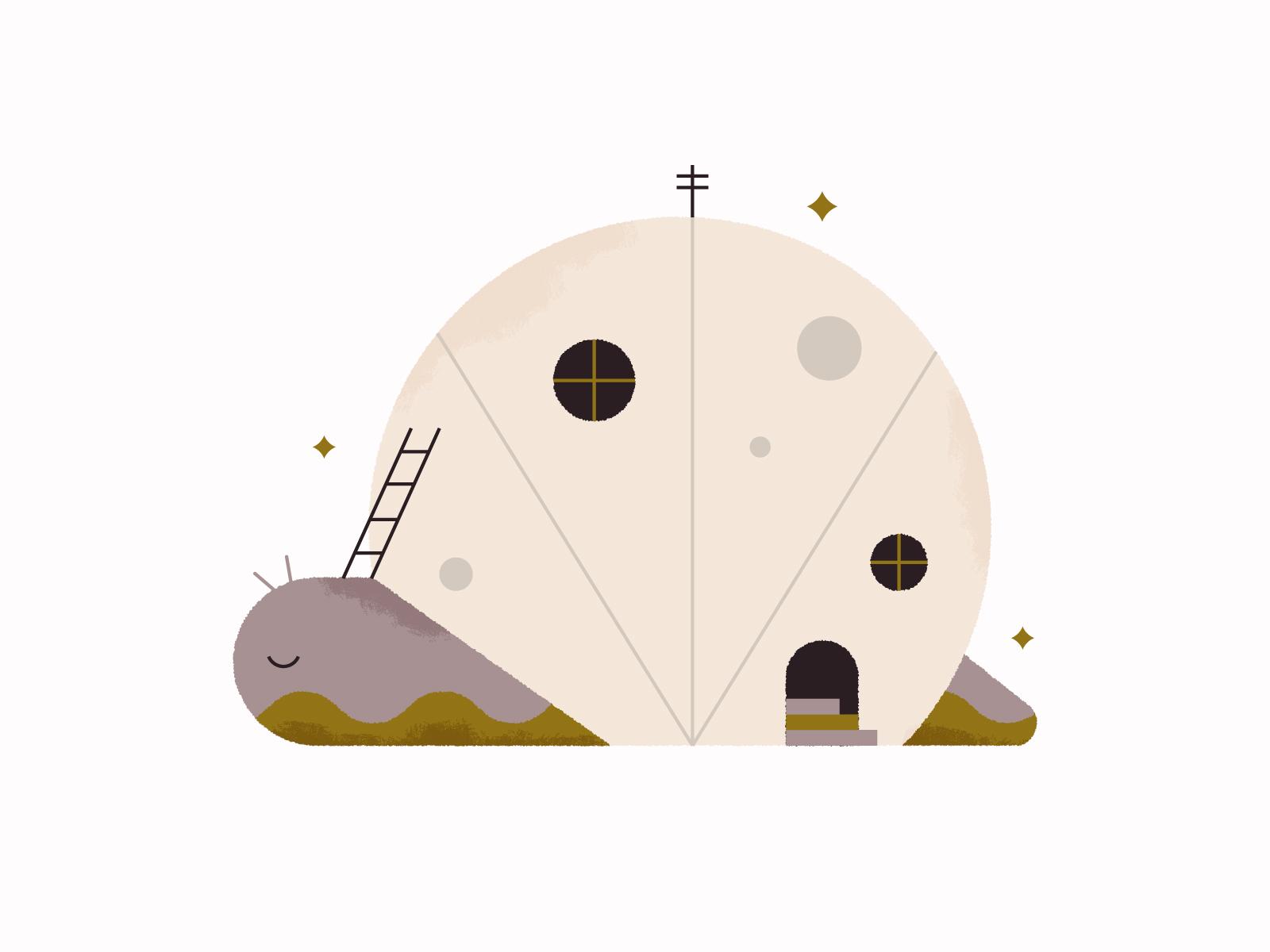 Snail House 🐌 shell design image blog art illustration fun cute home house snail