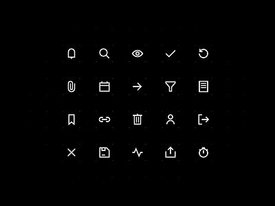 Enterprise UI Icons icons visual enterprise app icon set