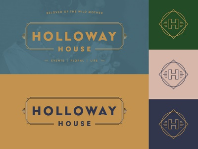 Holloway House Identity logo design oklahoma city okc logo lockup identity branding art deco