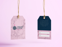 Clothing Tags designs for Dress Code Boutique Online Store.