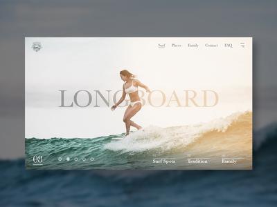 Moniz Surf Landing Page