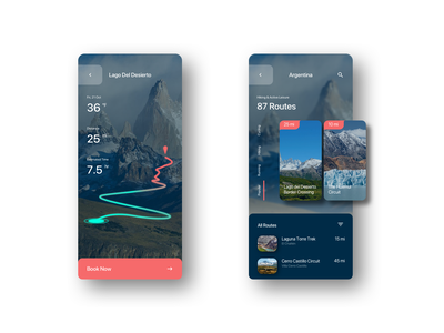 Replication Exploration athletic filter cards hiking traveling web design visual design product design mobile travel app travel ui art illustration branding animation ux sketch design ui design ui