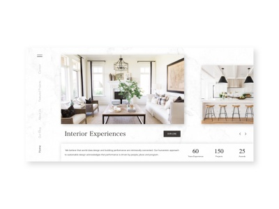 Interior Design typography ux design architectural design carousel navigation home website interior architecture architecture illustration branding ux design ui design
