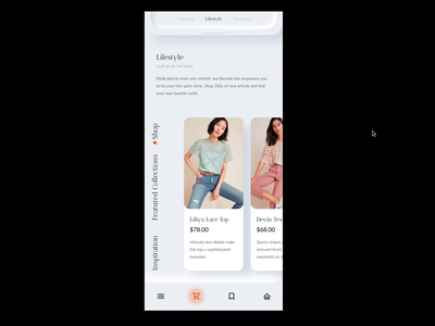 Shopping Application mobile design mobile online shopping shopping app shoppingapp shopping fashion illustration application ui uidesign app neumorphism
