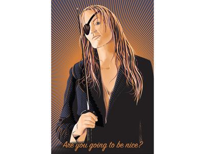 Elle Driver ipad imac wacomtablet macipad digitalart artist digitalillustratio  art posterdesign illustration movie printdesign vector tarantino darylhannah killbill