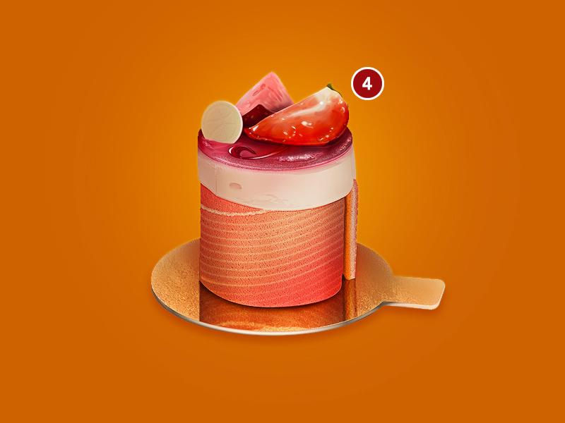 Dribbble Invite_x4 invite dribbble food illustration strawberry photoshop dessert