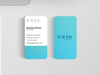 GrinBrand-BusinessCard screenprint print businesscards