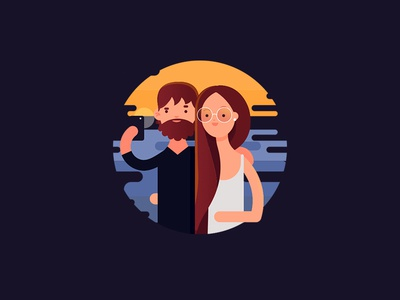 Selfie app flat illustration