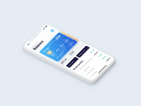 Financial app iPhoneX concept