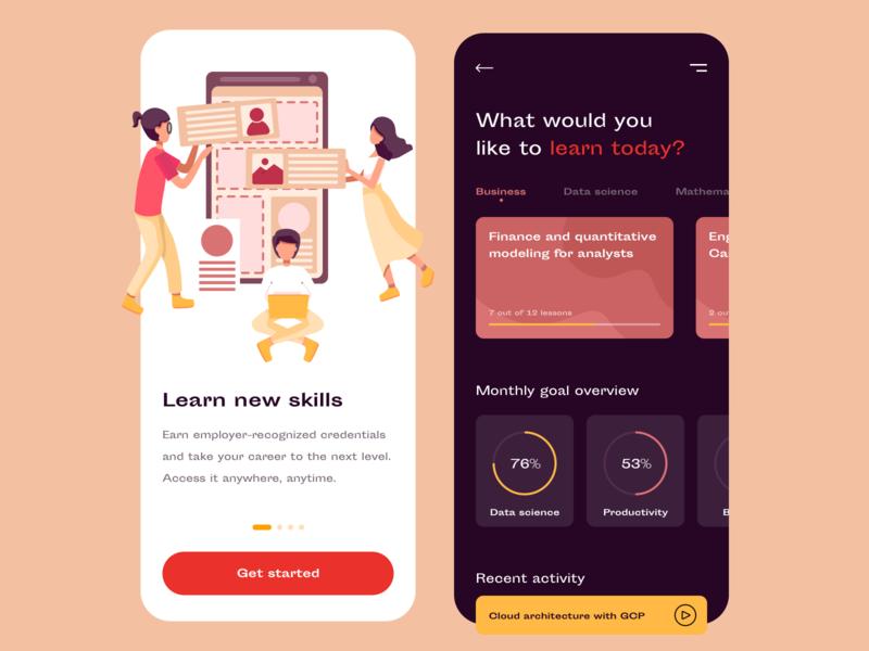 Startup learning app - MVP design
