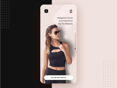 Ecommerce sunglass mobile app