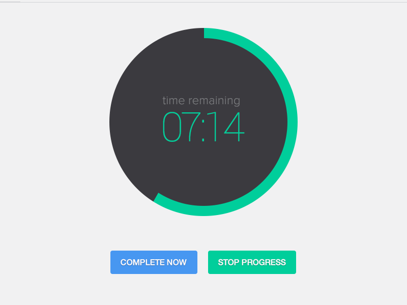 ToDo Progress Timer timer clock flat ui hurry progress bright green blue orange dashboard system todo manage tasks