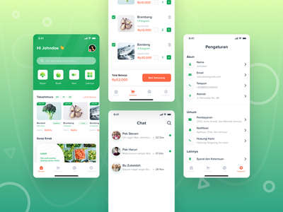Farme App. ecommerce add to cart cart platform fruit vegetable apps farmer kit ios store groceries clean ui design aplication ux ui user experience user interface interface