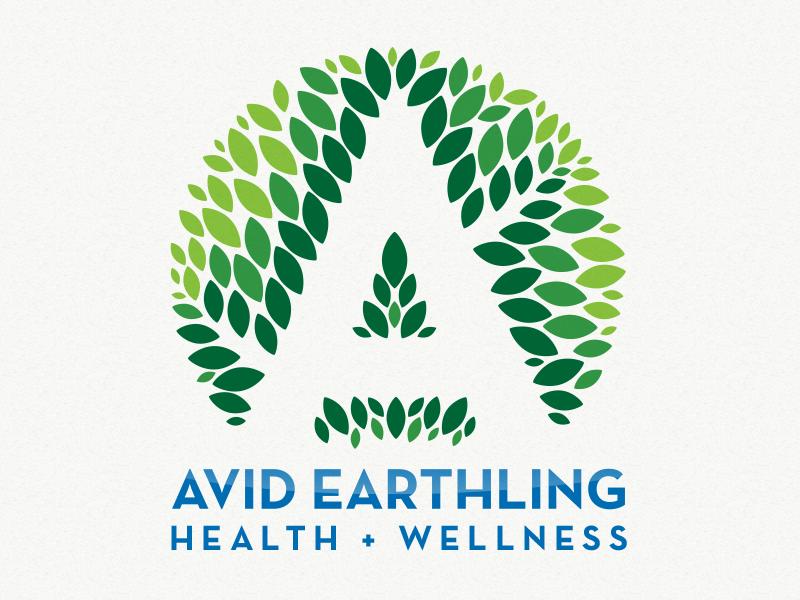 Avid logo identity brand health and wellness nature leaves