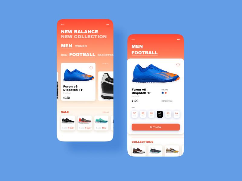 Sneaker Store. Concept mobile sneakers app web ui design