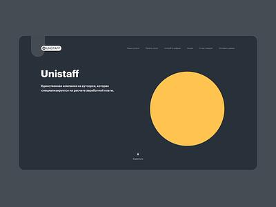 Unistaff UI web interaction annimation icons webdesign ux ui