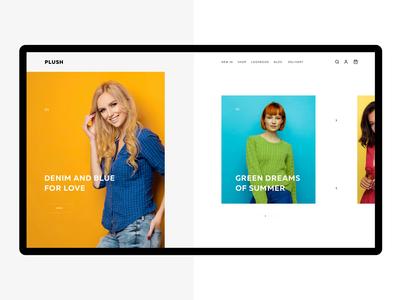 Fashion e-commerce slider uiux animation fashion e-commerce ui