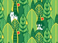 The cat in the jungle