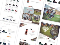 Rugby-themed Nike website
