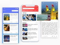 The Design idea of News Information app