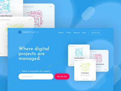 Sneak Peek of SaaS Platform app saas homepage toronto web design ux ui uiux webdesign
