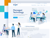 Homepage Shot of Global Technology Firm