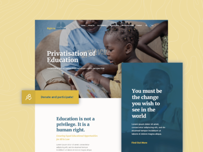 [Mockup - Website Concept] Right to Education Landing