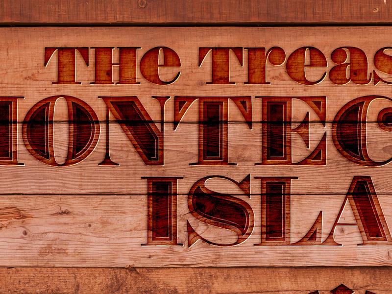The Treasure of Montecristo Island - box logo typography branding logo design game design