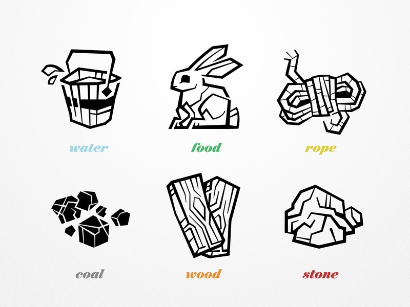 Resource Icons iconography design game design branding